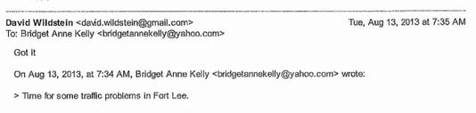 bridgegate email