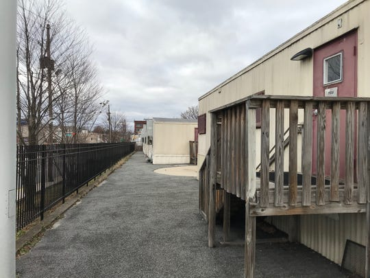 Initially installed around 2001, these 11 temporary classroom units at Passaic School No. 1 are expected to be removed in time for the 2019-2020 school year.