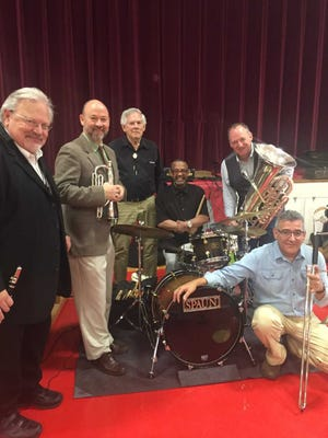 Jim Shearer, second from right, and the Second Line Survivors.