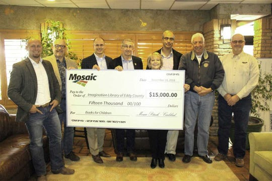 Mosaic donated $15,000 to the Imagination Library of eddy County.