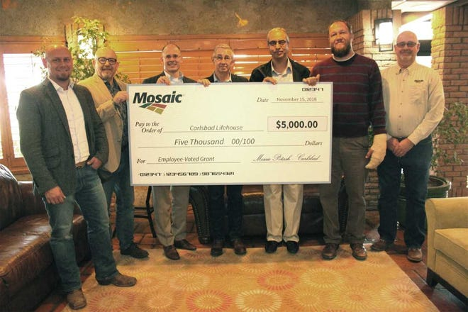 Mosaic donated $5,000 to Carlsbad Lifehouse.