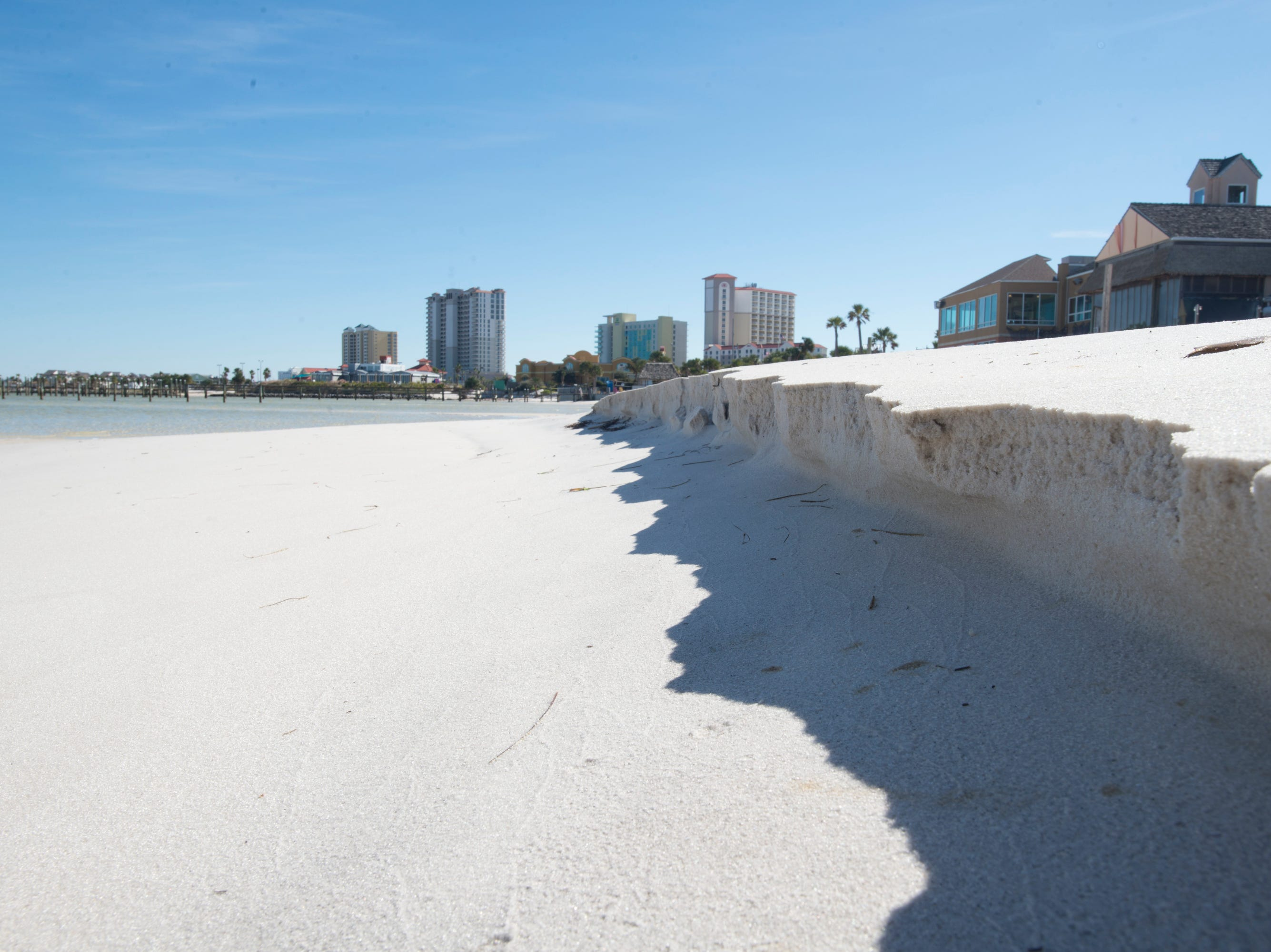 Quietwater Beach in Pensacola on Tuesday, November 27, 2018.  Beach leaders plan to widen Little Sabine and use spoils to renourish Quietwater Beach, the busy beach area behind the Boardwalk Shopping Center.