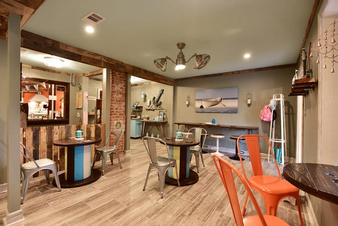The open space and relaxed decor offers a fun, beach vibe.