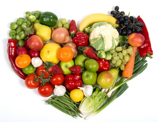 Vegetables Fruit Mixed Heart
