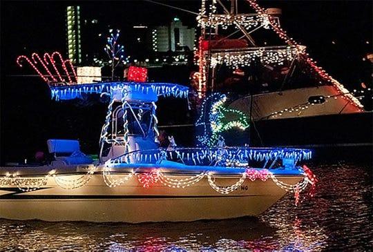 Pensacola Beach Lighted Boat Parade.