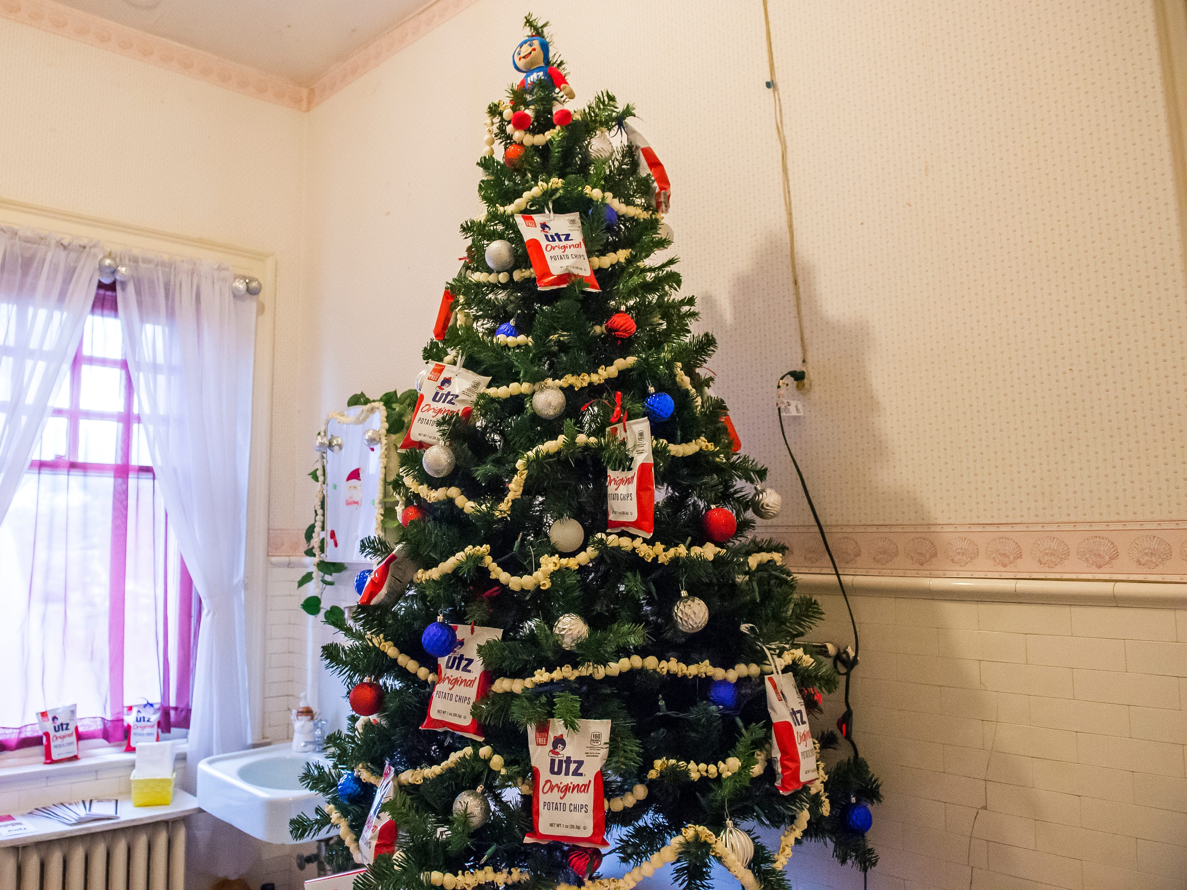 Utz decorated this Christmas tree that is displayed in the Warehime-Myers Mansion in Hanover.