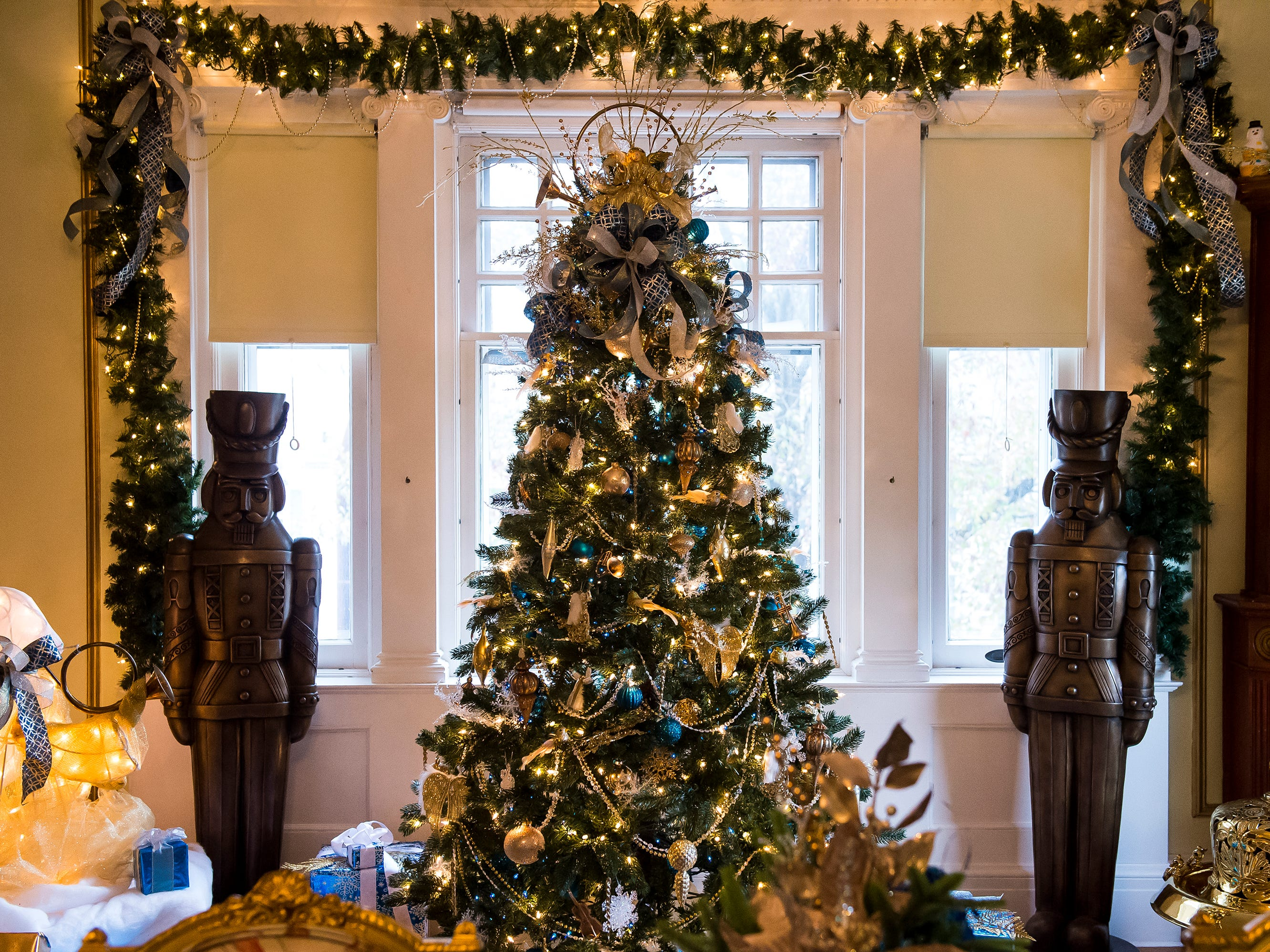 An angel-themed tree is one of over 40 decorated Christmas trees on display at the Warehime-Myers Mansion in Hanover. Tree tours are currently being offered and a schedule can be found on the Hanover Area Historical Society's Facebook page.