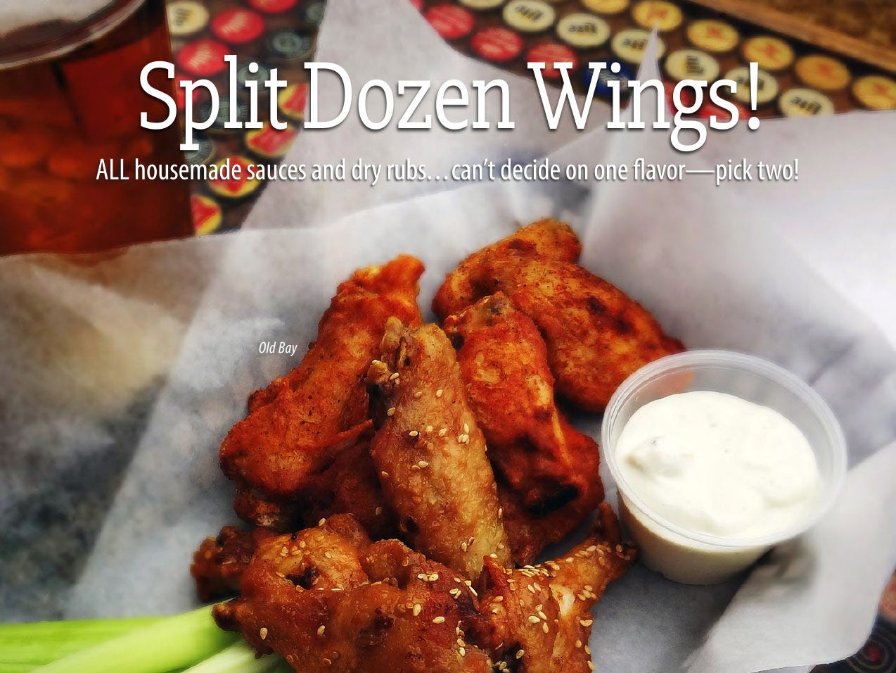 These wings can be found at The Circle located at 5 East Walnut St.