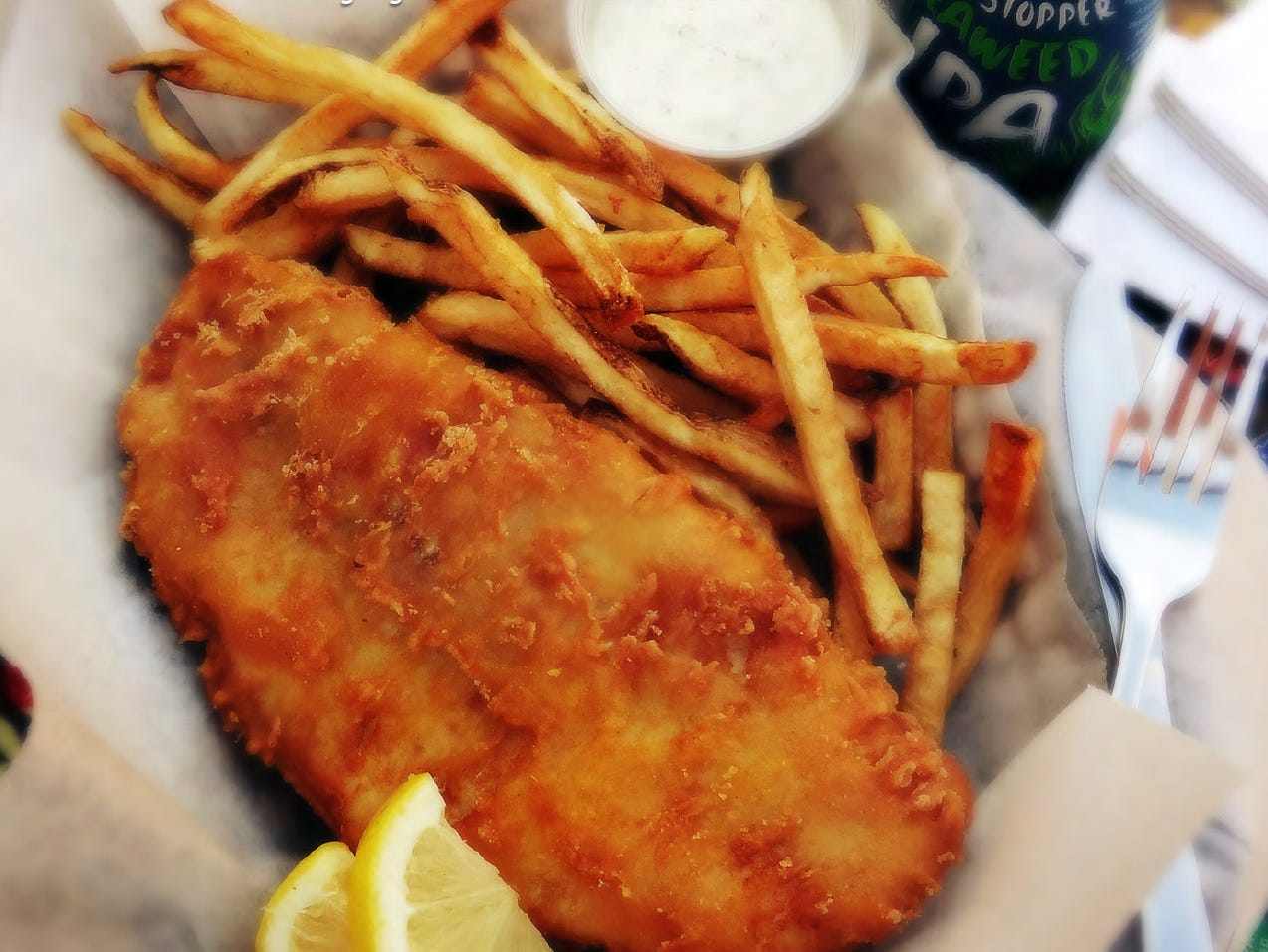 This Fish n' Fries are available at  The Circle located at 5 East Walnut St.