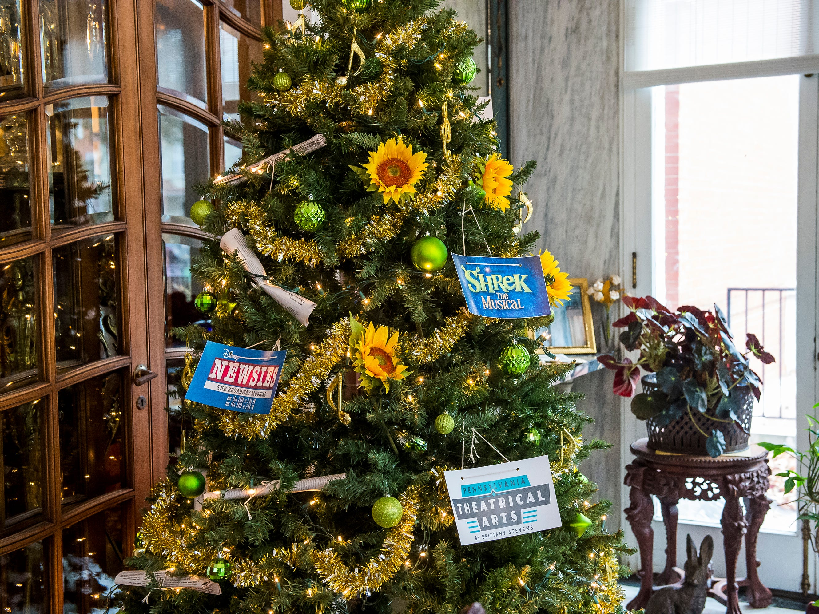 Pennsylvania Theatrical Arts by Brittany Stevens (PATABS) is one of several local businesses that decorated a Christmas tree for display at the Warehime-Myers Mansion in Hanover.