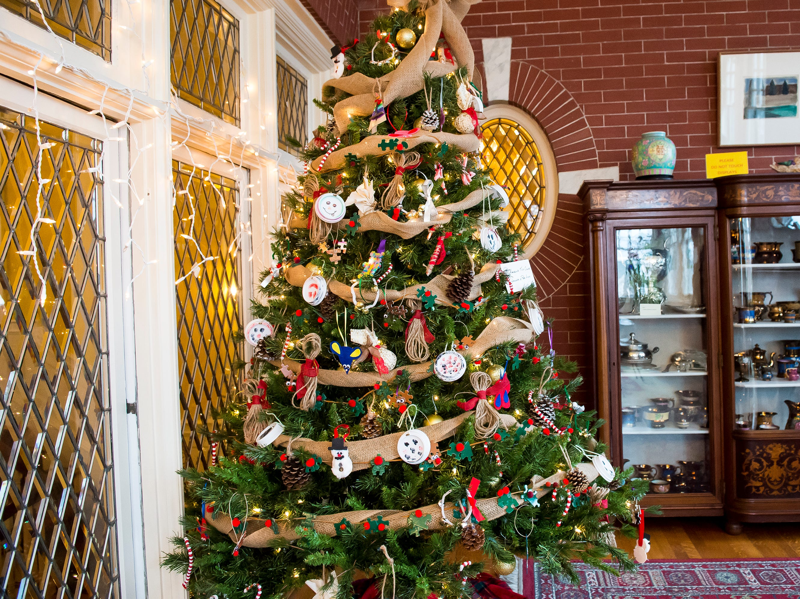Children at the Amazing Kids Clubs in Hanover and Red Lion made the decorations for this tree at the Warehime-Myers Mansion in Hanover.
