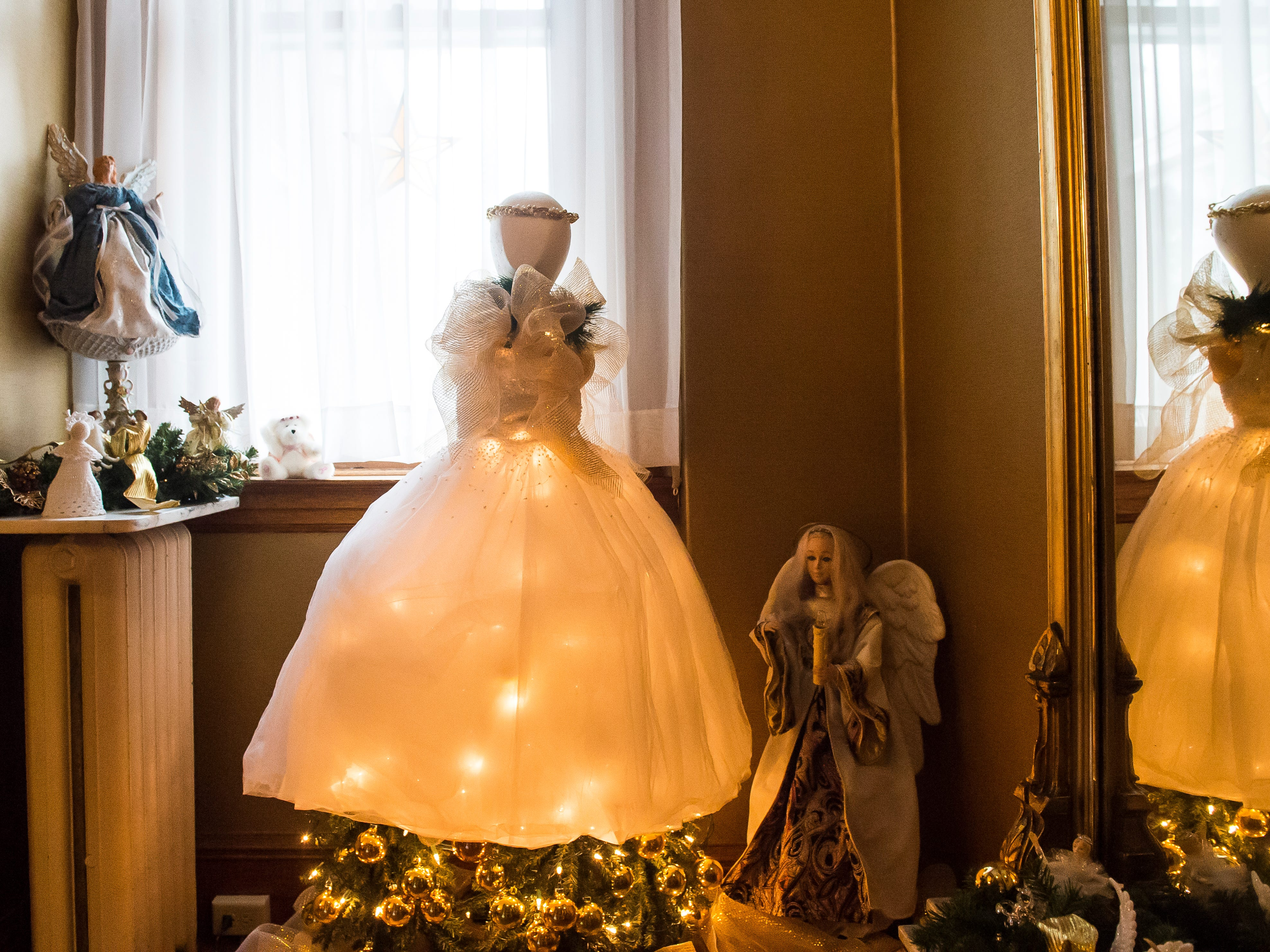 Angel-themed decorations are displayed in the butler's pantry in the Warehime-Myers Mansion in Hanover. These decorations were arranged by Hanover Area Historical Society board member Nancy Markle.