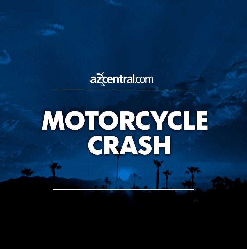 Dirt biker without helmet in extremely critical condition after crashing into car in west Phoenix