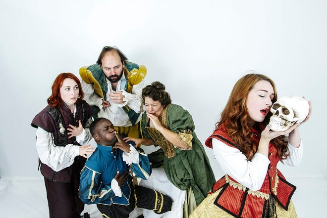"""The cast of BLK BOX PHX's """"S--tfaced Shakespeare."""""""