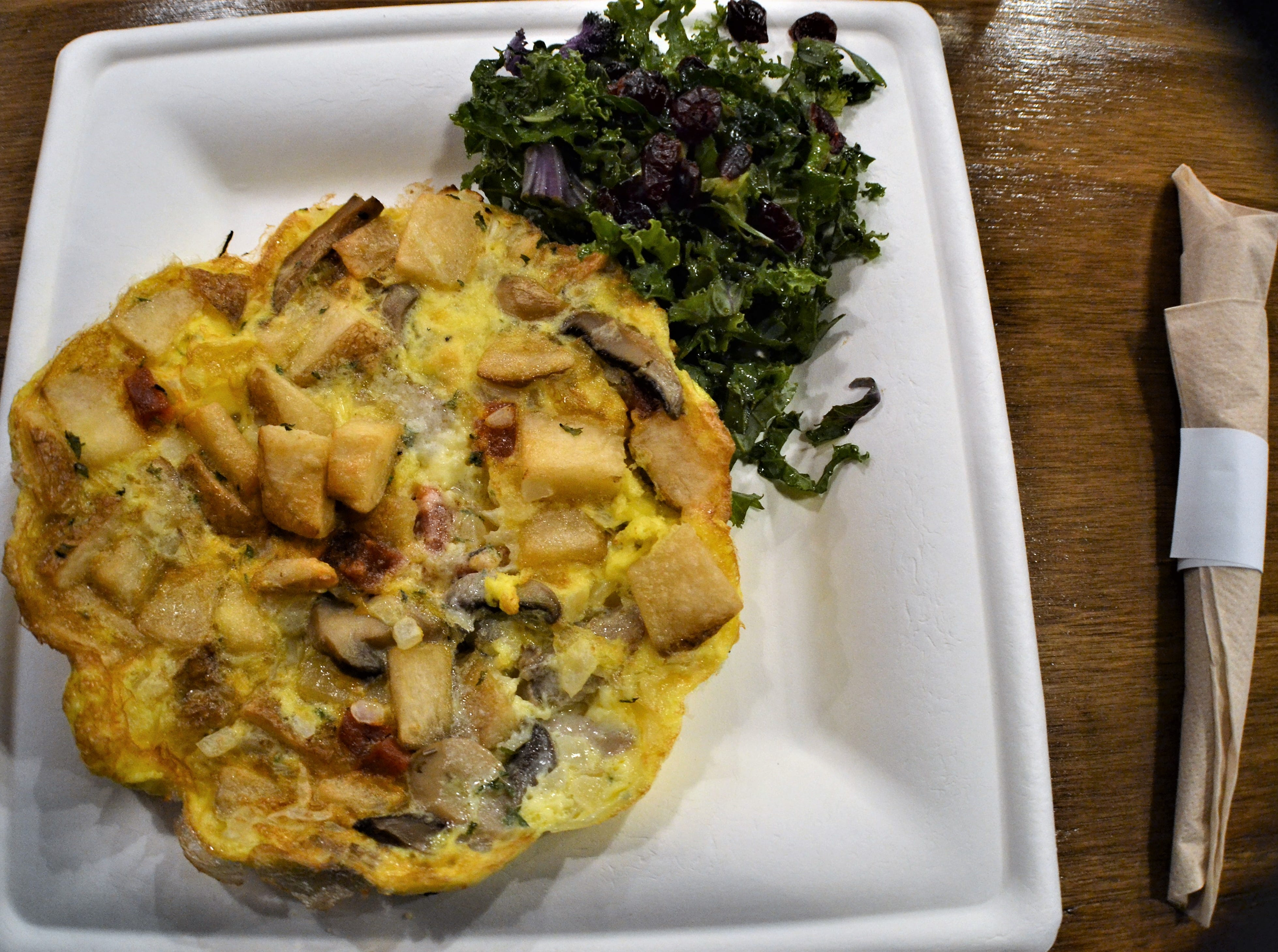 El sonador is one of three tortilla espanola omelettes available at El Charro Hipster.