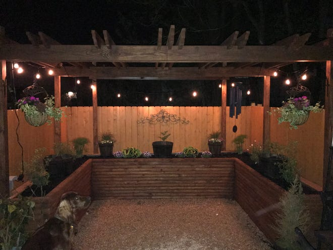 The backyard of United Way of Lebanon County CEO Kenny Montijo's home has been transformed into an elegant patio. He bought the home on Weidman Street in Lebanon for just $23,000 at the end of 2015.