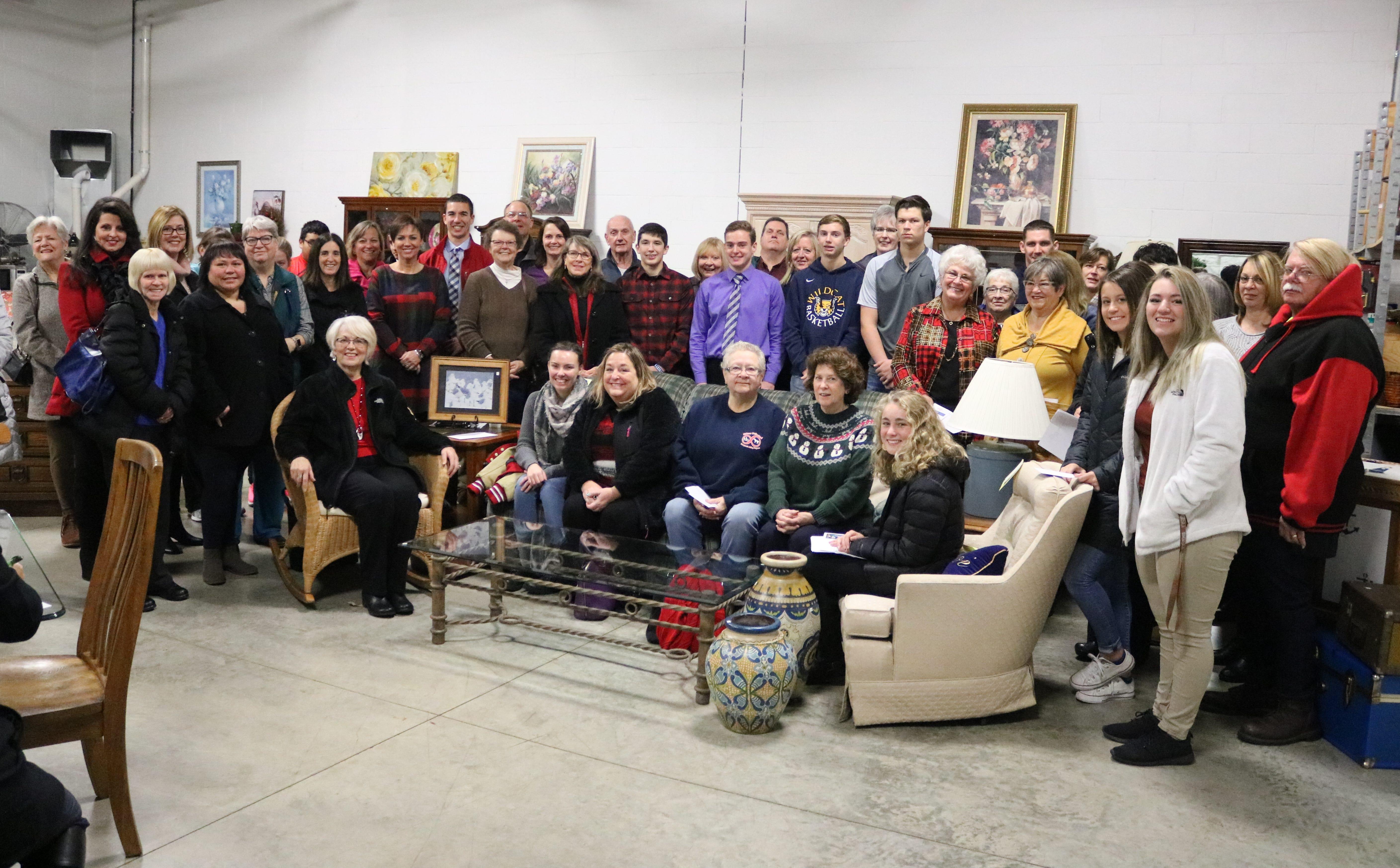 Forty-five local charities were presented with grants totaling $155,000 from the Portage Resale Center on Tuesday.