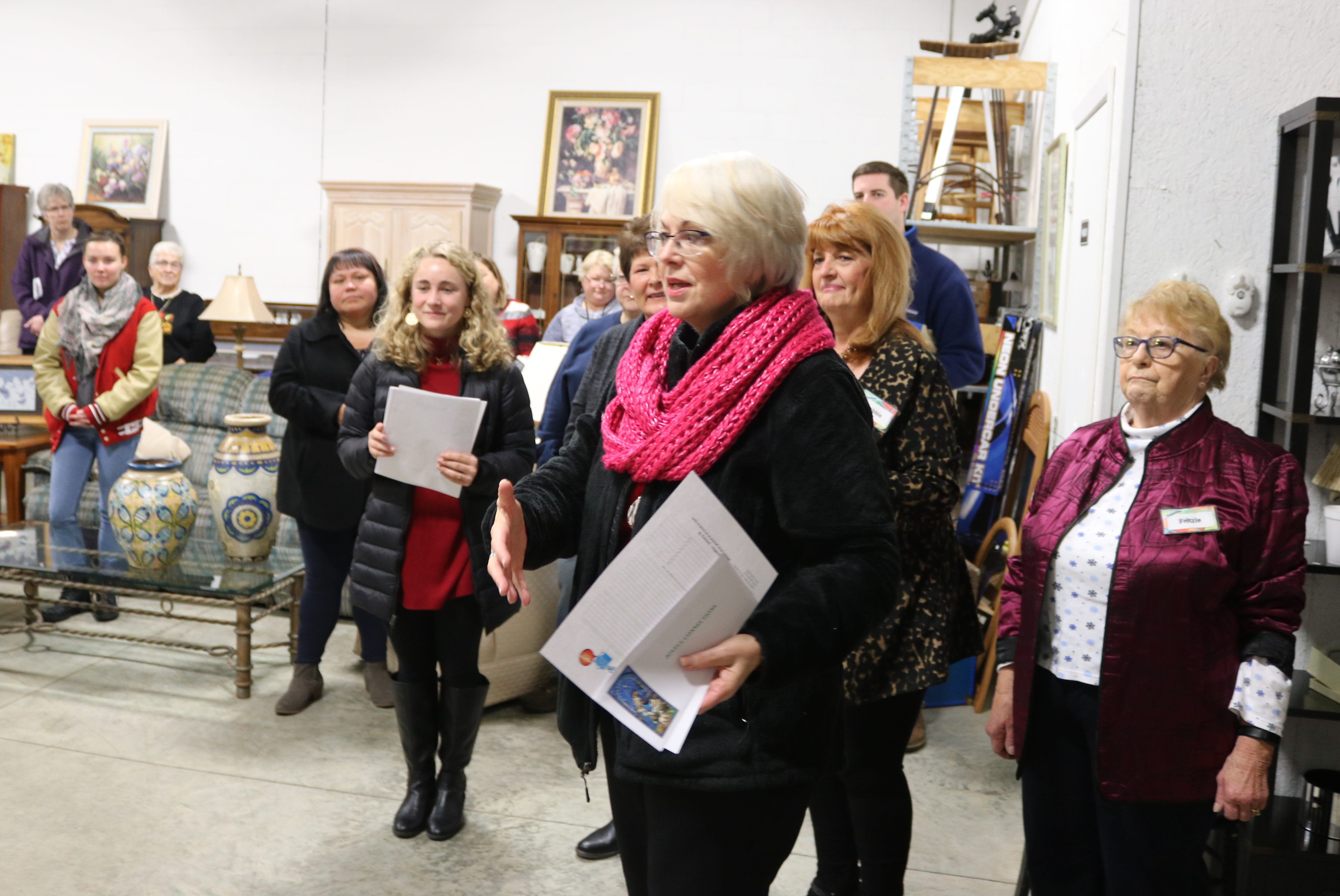 Sheila Powell, of Joyful Connections, discusses how much fun volunteering for the Portage Resale Center can be.
