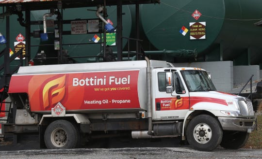 A Bottini Fuel truck parked at the inland terminal located at the New Hamburg train station on November 27, 2018.
