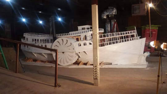 The steamboat Mary Powell, Queen-of-the Hudson, will be reincarnated as a float by Andrés San Millán, artistic director of Cocoon Theatre, for this year's Celebration of Lights Parade.