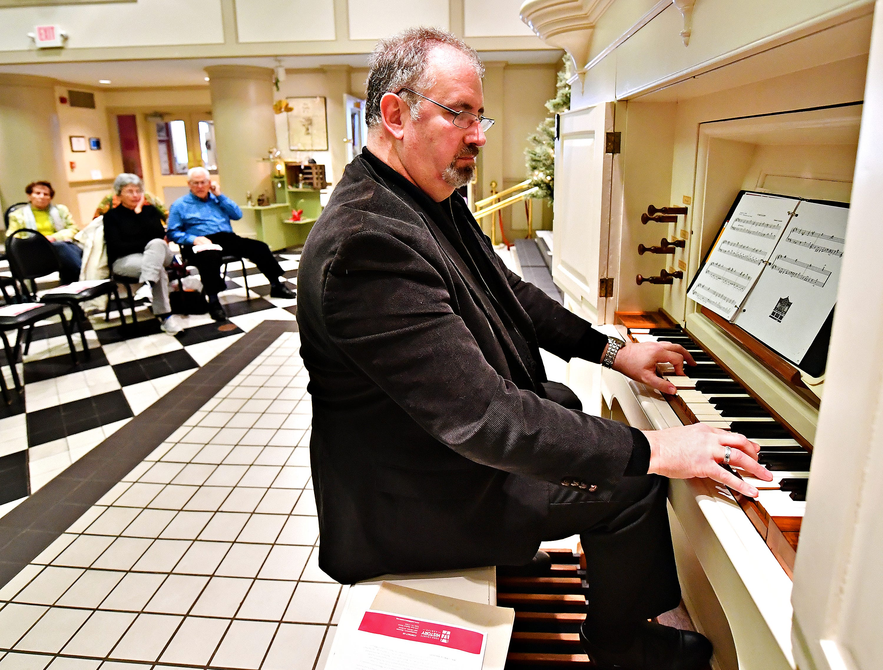 The York County History Center launches its campaign to raise $250,000 for the restoration of the David Tannenberg Organ by offering a free performance by Artist Victor Fields on Giving Tuesday at the history center in York City, Tuesday, Nov. 27, 2018. Dawn J. Sagert photo