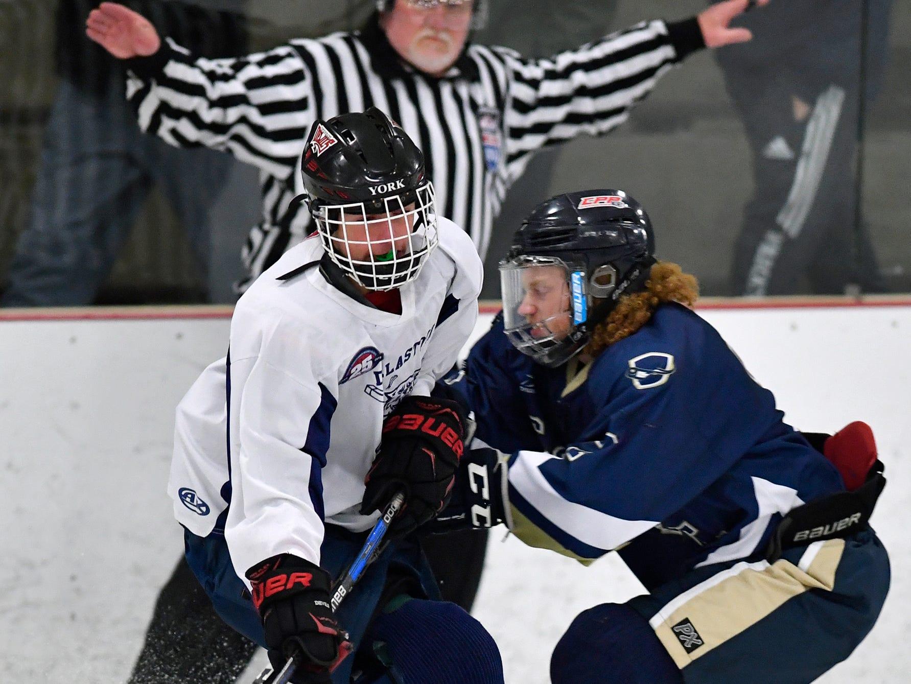 Dallastown vs Penn Manor ice hockey, Monday, November 26, 2018.John A. Pavoncello photo