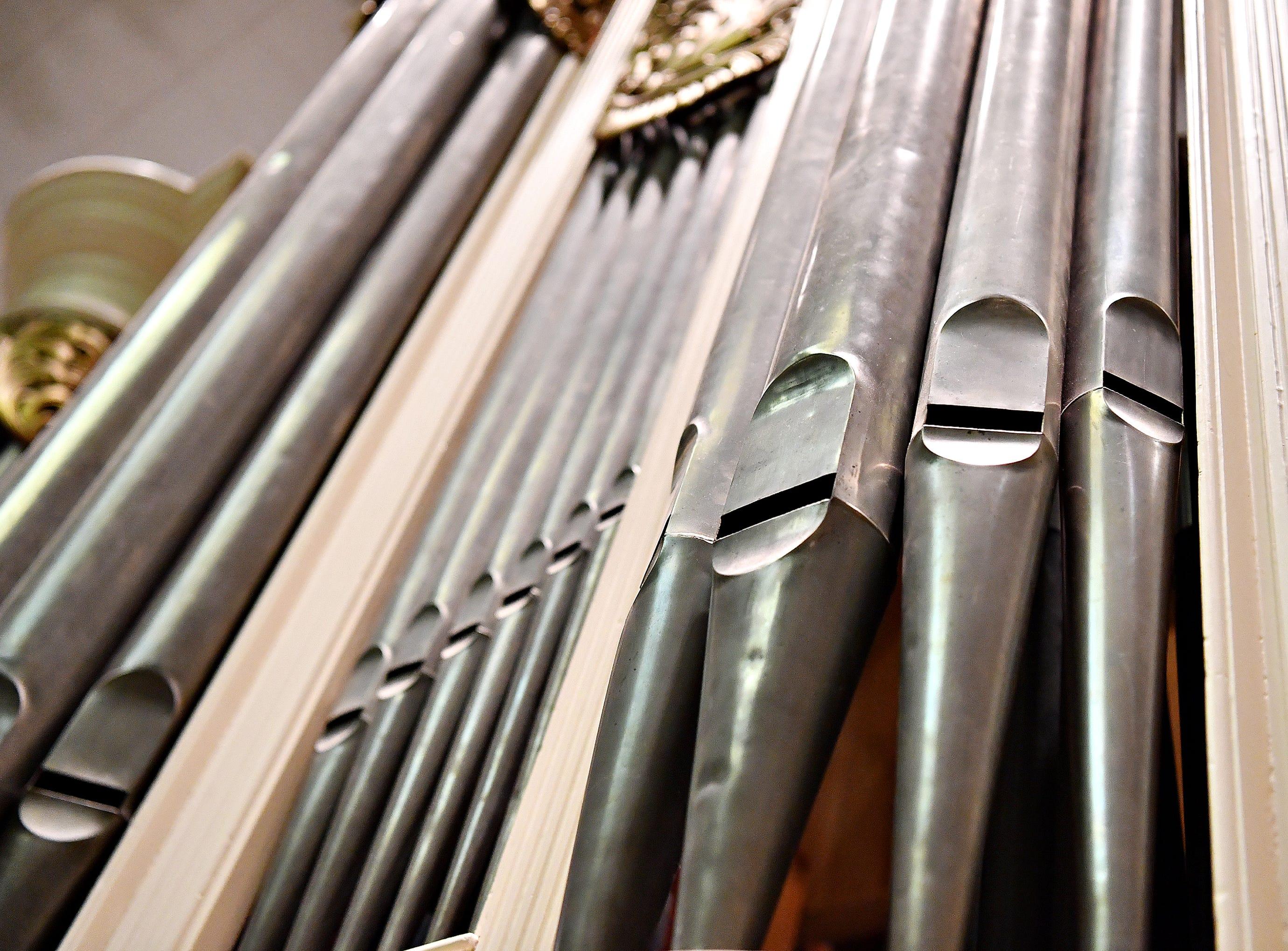 The 1804 David Tannenberg Organ at York County History Center in York City, Tuesday, Nov. 27, 2018. Dawn J. Sagert photo