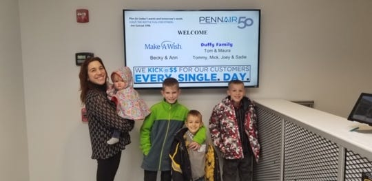 The Duffy family enjoyed a tour of York's PennAir thanks to the Make-A-Wish foundation.