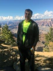 James Smith standing on the rim of the Grand Canyon October 12, 2018.