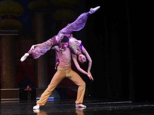 "Arabian dancers in a 2016 performance of ""The Nutcracker."""