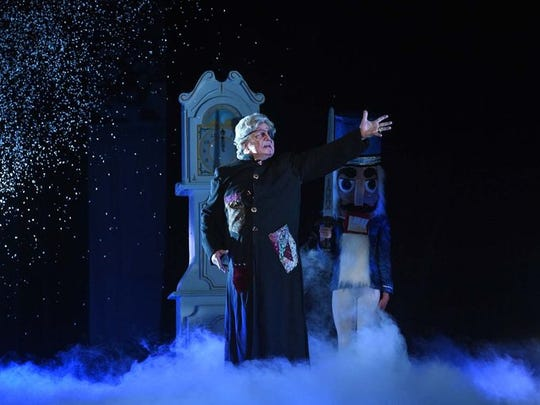 "William Pizzuto as Herr Drosselmeyer in a 2016 performance of ""The Nutcracker."""