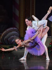"The Sugar Plum Fairy and her Cavalier in a 2016 performance of ""The Nutcracker."""