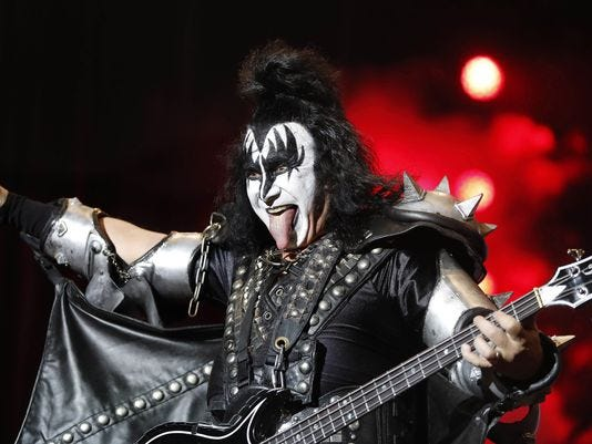Gene Simmons co-founder and bassist Gene Simmons.