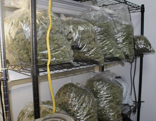 About 500 pounds of processed marijuana was found at a Weaverville commercial building.