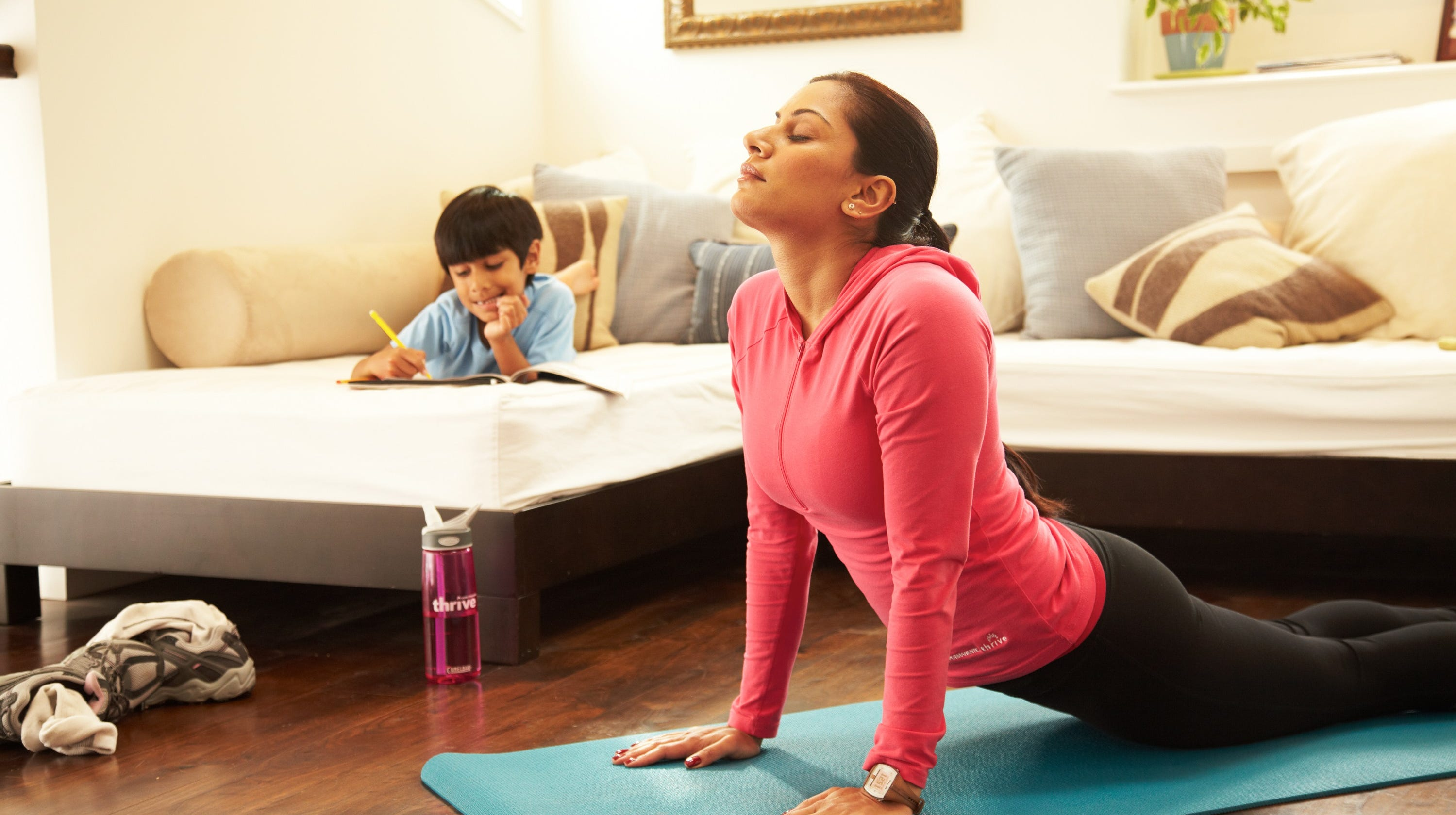 Exercising at home is just one of the ways you can make wellness a priority in your everyday life.