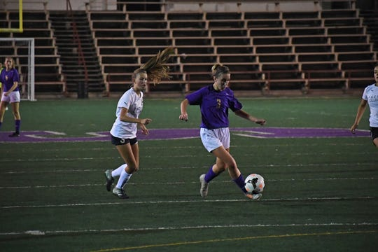 Salinas' Camryn Garcia (3) scored three goals in two games for the Cowboys last week.