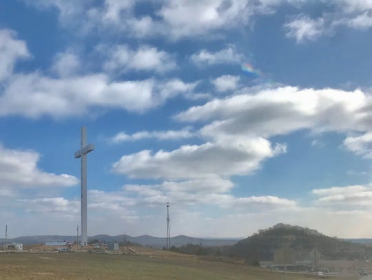 The cross north of Branson has surpassed the The Cross at the Crossroads, in Effingham, Illinois, as the tallest cross in North America.  The cross along Highway 65 is 218 feet; the cross at Interstates 57 and 70 is 198 feet.