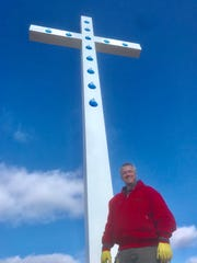 Kerry Brown says the cross is 218 feet tall, making it the tallest cross in North America.  It should be open for visitors by Easter, which is April 21, 2019.