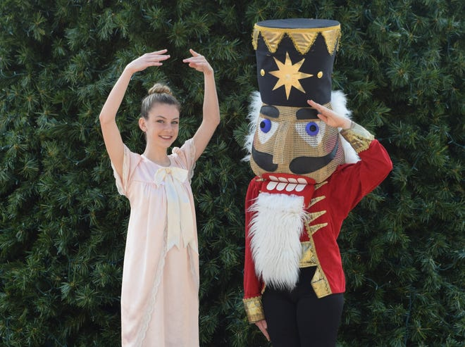 """Florida Arts & Dance Co. dancer Drew Walls is """"Clara"""" in the performances of """"The Nutcracker"""" on Dec. 14-16 at the Lyric Theatre in Stuart. Tony Morman will play the role of The Nutcracker."""