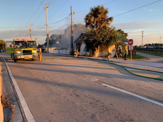 Nobody was hurt after a home in Stuart caught on fire in Stuart Tuesday afternoon, police said.