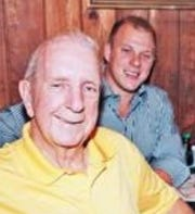 Ace Cappelen and his grandson, Jake Fojtik, celebrated an evening at Szechuan Palace restaurant in August 2013.