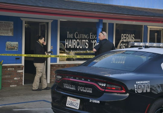 Police are investigating a burglary at Git N Go and The Cutting Edge Haircuts.