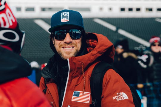 Mike Jankowski at Freeski Slopestyle 2018 Olympic Winter Games in PyeongChang, Korea