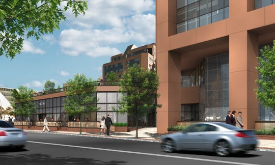 """Rendering of City Square"""" development proposal in White Plains"""