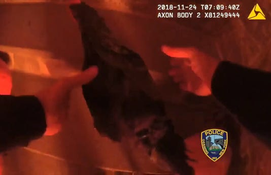Ossining cop rescues chicken from fire