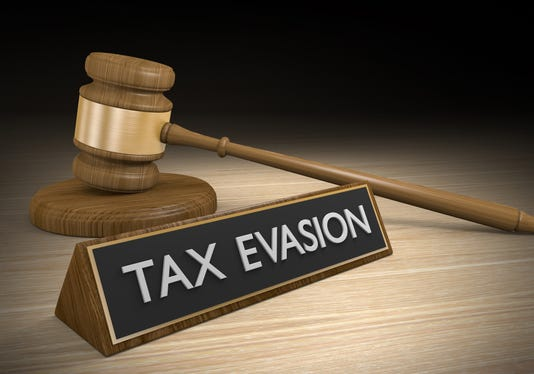 Tax Evasion Through Illegal Schemes And Breaking Laws 3d Rendering
