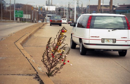 The late News Journal photographer/editor Donaghey Brown took a series of shots in 1993 of a little fir tree growing out of crack near I-495. Little did he know, he helped create an enduring tradition.