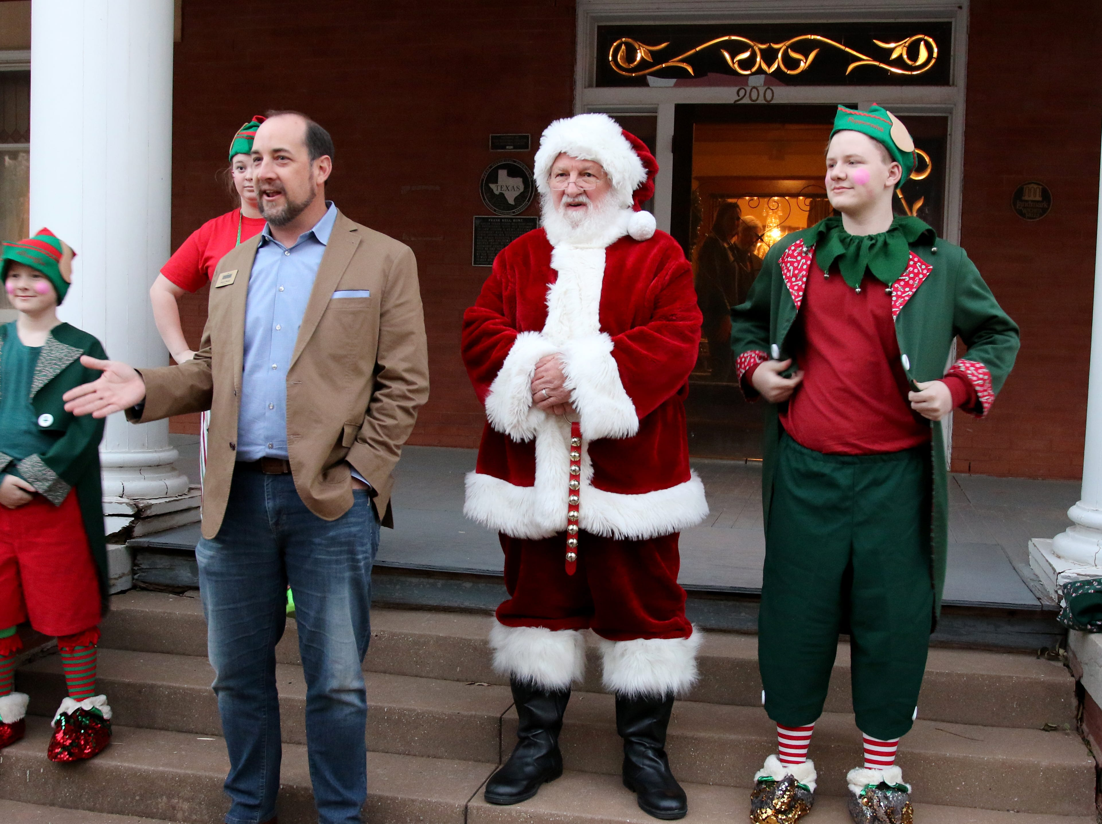 Santa House at the Kell House Museum opened Monday, Nov. 26, 2018, with kids and their families touring part of the museum, drinking hot cocoa and taking photos with Santa.