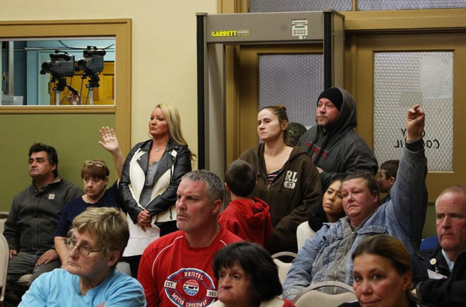 Tenants of John Kemp properties packed into Zanesville City Hall Monday night, concerned about the news that Kemp's properties will be demolished.