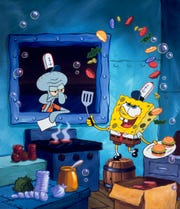 SpongeBob: Making Krabby patties and making Squidward crabby since 1999.